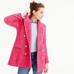 J. Crew Diamond Tweed Coat